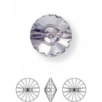 Rivoli Strassknopf konisch 1 Loch 8mm Crystal UF Transparent