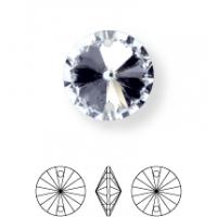 Rivoli Aufnähstein konisch 2 Loch 12mm Crystal F (BN011)