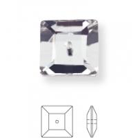 Square Aufnähstrass 1 Loch 6mm Crystal F