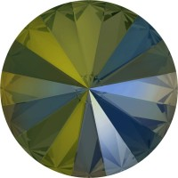 Rivoli Chaton 12mm Crystal Iridescent Green F