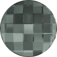 Chessboard Circle Strassstein 20mm Black Diamond F