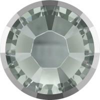 Xilion Rose Rimmed Hotfix Strass ss10 Black Diamond & Lt. Chrome Z A HF