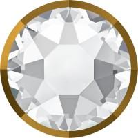 Xirius Rose Rimmed Hotfix Strass ss16 Crystal & Dorado Z A HF