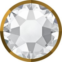 Xirius Rose Rimmed Hotfix Strass ss20 Crystal & Dorado Z A HF