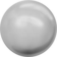 Cabochon Hotfix Halb-Perle ss10 Crystal Light Grey Pearl HF