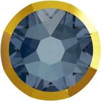 Xirius Rose Rimmed Strassstein ss34 Denim Blue & Dorado Z F