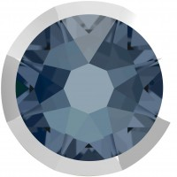 Xirius Rose Rimmed Strassstein ss34 Denim Blue & Lt. Chrome Z F