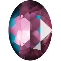 Oval 18x13mm Crystal Burgundy DeLite
