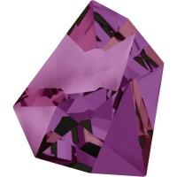Kaputt Fancy Stone teilweise mattiert 38x33mm Crystal Volcano F