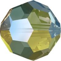 Round Perle (Großloch) 6mm Crystal Iridescent Green