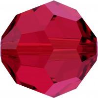 Round Perle (Großloch) 8mm Scarlet