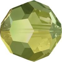 Round Perle (Großloch) 6mm Crystal Iridescent Green 'FC'