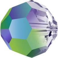 Round Perle (Großloch) 6mm Crystal Scarabaeus Green