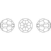 Round Perle (Großloch) 4mm Crystal Shimmer