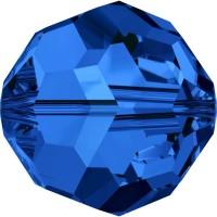 Round Perle (Großloch) 4mm Sapphire