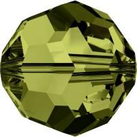 Round Perle (Großloch) 6mm Olivine