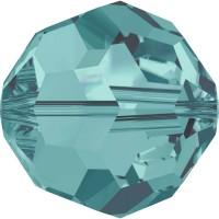 Round Perle (Großloch) 6mm Blue Zircon