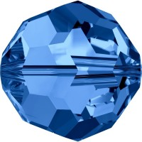 Round Perle (Großloch) 4mm Capri Blue