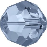 Round Perle (Großloch) 4mm Denim Blue