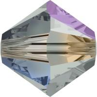 Xilion Perle 4mm Black Diamond Aurore Boreale 2x