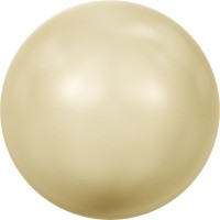 Crystal Round Pearl 3mm Crystal Light Gold Pearl