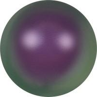 Crystal Round Pearl 2mm Crystal Iridescent Purple Pearl