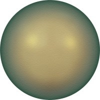 Crystal Pearls 5817 1/2drill Cabochon Pear 6mm Crystal Iridescent Green Pearl