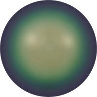 Crystal Pearls 5817 1/2drill Cabochon Pear 6mm Crystal Scarabaeus Green Pearl