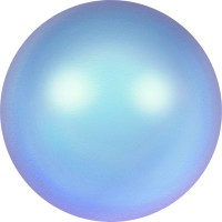 Crystal Pearls 5817 1/2drill Cabochon Pear 6mm Crystal Iridescent Light Blue Pearl