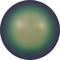 Crystal Pearls 5818 1/2drilled Round Pearl 6mm Crystal Scarabaeus Green Pearl