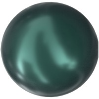 Crystal Pearls 5818 1/2drilled Round Pearl 6mm Crystal Iridescent Tahitian Look Pearl