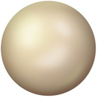 Ceramic Cabochon Hotfix ss10 Chalkwhite Metallic Light Gold HF