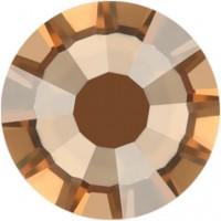 Rose Strass Hotfix ss8 Crystal Golden Shadow HF
