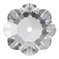 Flower Aufnähstrass flach 1 Loch 6mm Crystal