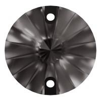 Rivoli Aufnähstein flach 2 Loch 14mm Black Diamond F