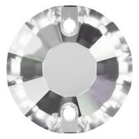 Rose Aufnähstrass flach 2 Loch 10mm Crystal F