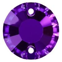 Rose Aufnähstrass flach 2 Loch 12mm Purple Velvet F