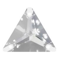Triangle Aufnähstein flach 3 Loch 22mm Crystal F