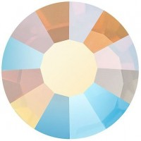 VIVA12 Rose Strassstein bleifrei ss20 (4.7mm) White Opal AB F (01000AB)