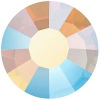 VIVA12 Rose Strassstein bleifrei ss30 (6.4mm) White Opal AB F (01000AB)