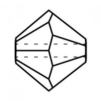 Bicone Glasschliffperle 4mm Montana AB 2x