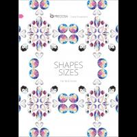 Preciosa Größen und Formen Karte Flachbodensteine 2017 EN
