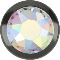 Xirius Rose Framed Hotfix Strass ss34 Crystal AB HF Silver Ring (SR)