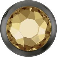 Xirius Rose Framed Hotfix Strass ss16 Crystal Golden Shadow HF Gun Metal Ring (GM)