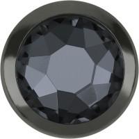 Xirius Rose Framed Hotfix Strass ss16 Crystal Silver Night HF Gun Metal Ring (GM)
