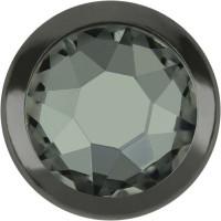 Xirius Rose Framed Hotfix Strass ss16 Black Diamond HF Gun Metal Ring (GM)