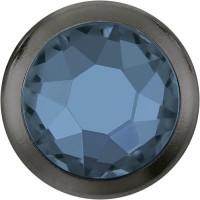 Xirius Rose Framed Hotfix Strass ss16 Denim Blue HF Gun Metal Ring (GM)