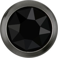 Xirius Rose Framed Hotfix Strass ss16 Jet HF Gold Ring (GR)