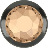 Xirius Rose Framed Hotfix Strass ss16 Silk HF Gold Ring (GR)
