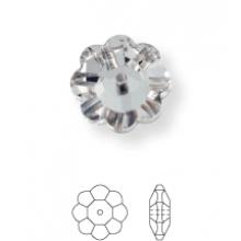 Flower Aufnähstrass 1 Loch 14mm Crystal F